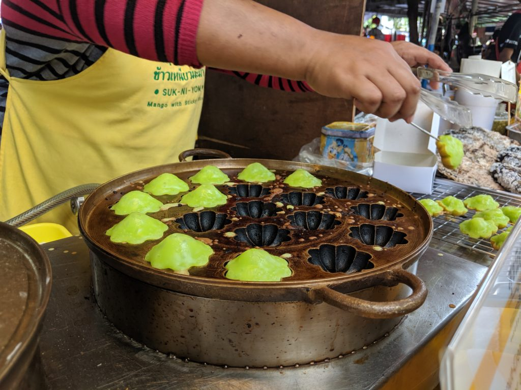 Delicious Pandan Cake, Chatuchak Market, Bangkok, Thailand