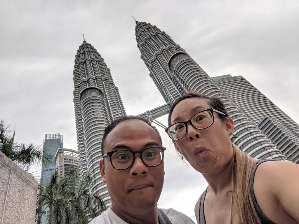 Carlienne at Petronas Towers, Kuala Lumpur, Malaysia