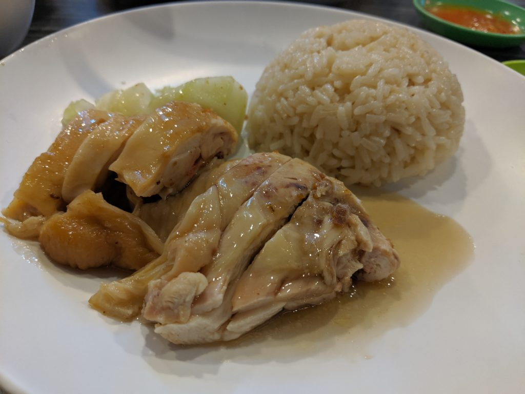 steamed chicken and rice, Aladin Chicken and Rice, Kuching, Malaysia
