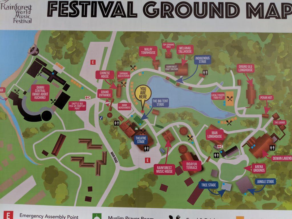 Rainforest World Music Festival Map