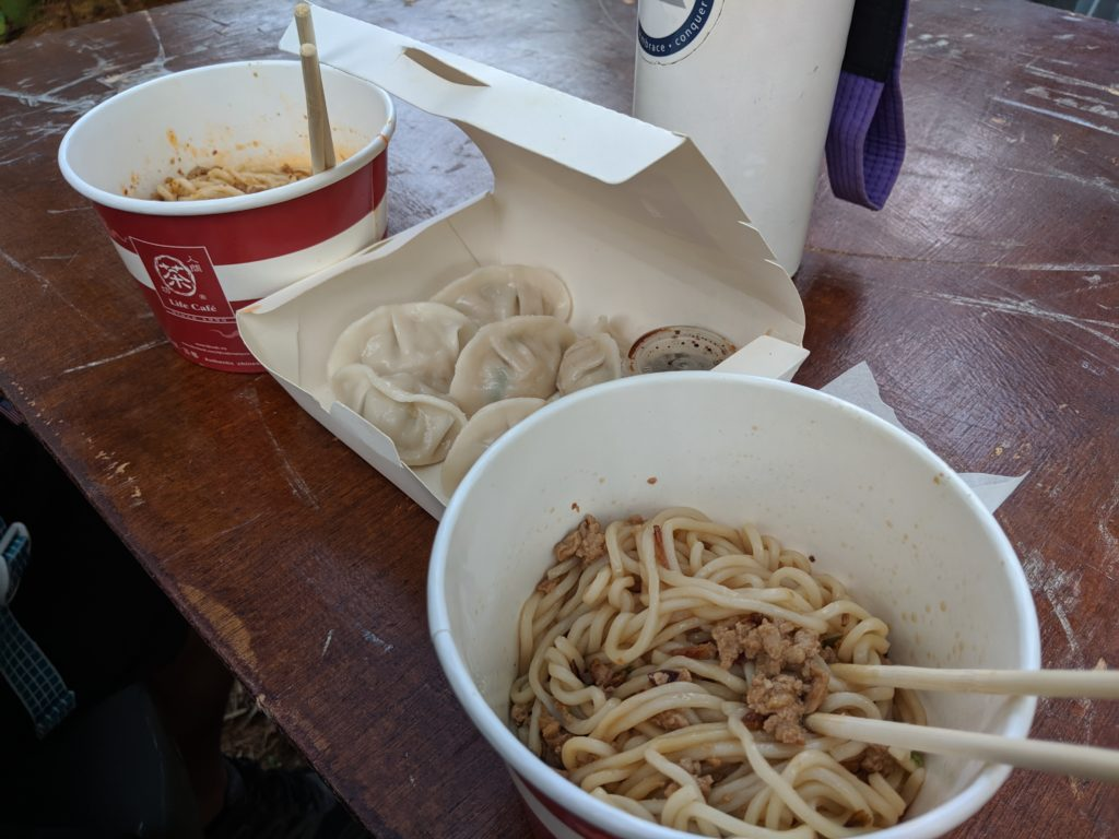 Chinese noodles and dumplings, Rainforest World Music Festival 2019.