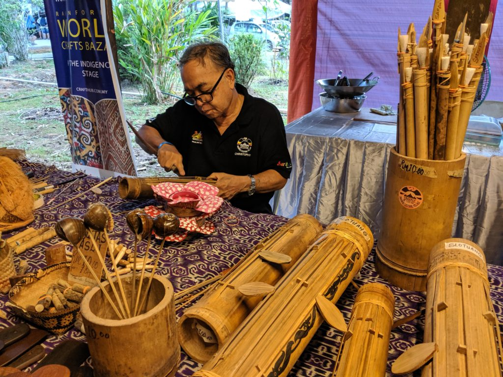 Crafts Bazaar, Rainforest World Music Festival 2019, Kuching, Malaysia