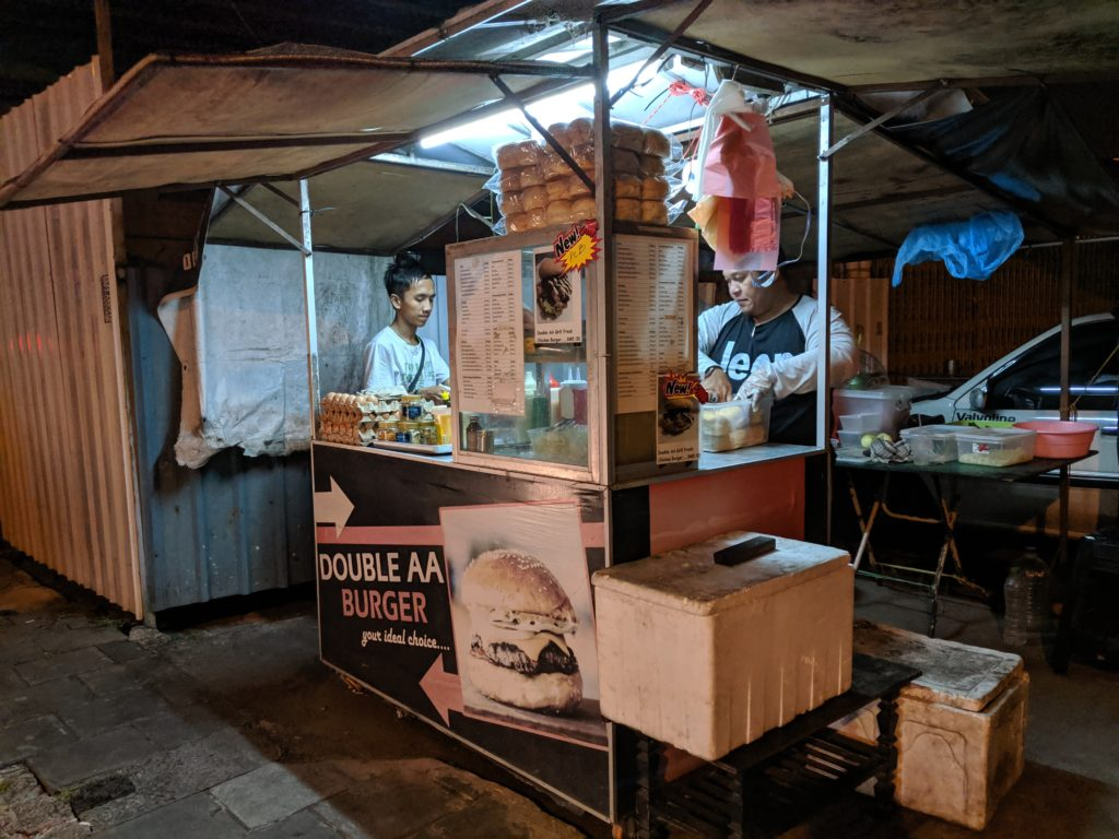Double AA Burger stand, Kuching, Malaysia