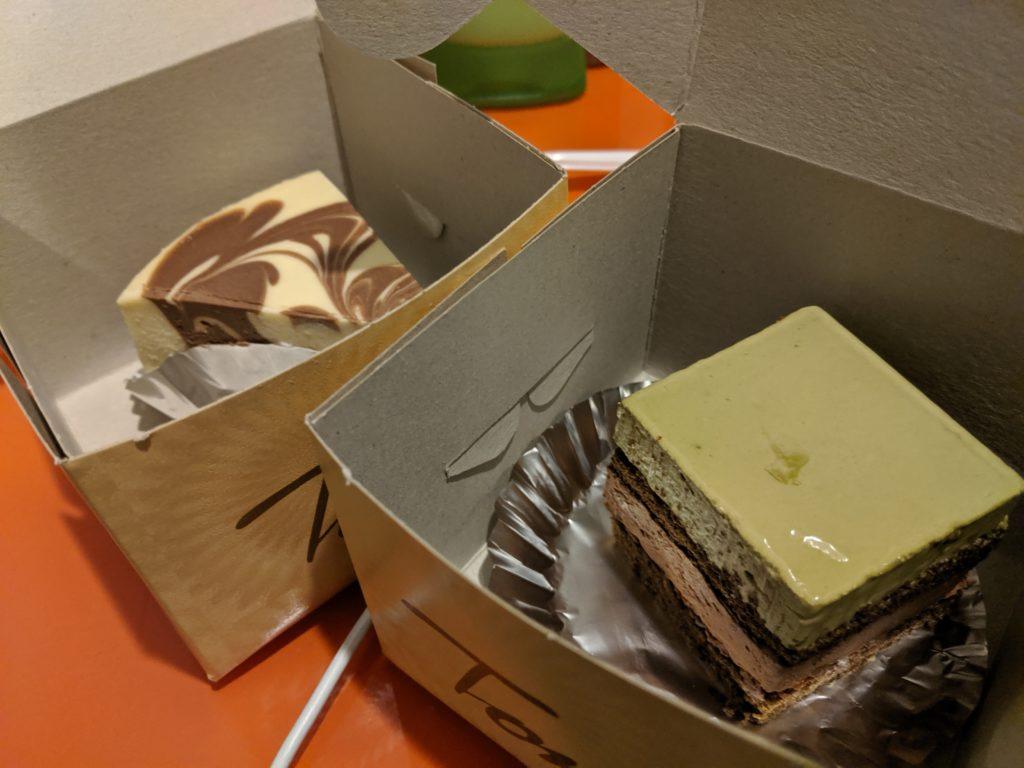 desserts from Tom's Cafe, Kuching, Malaysia