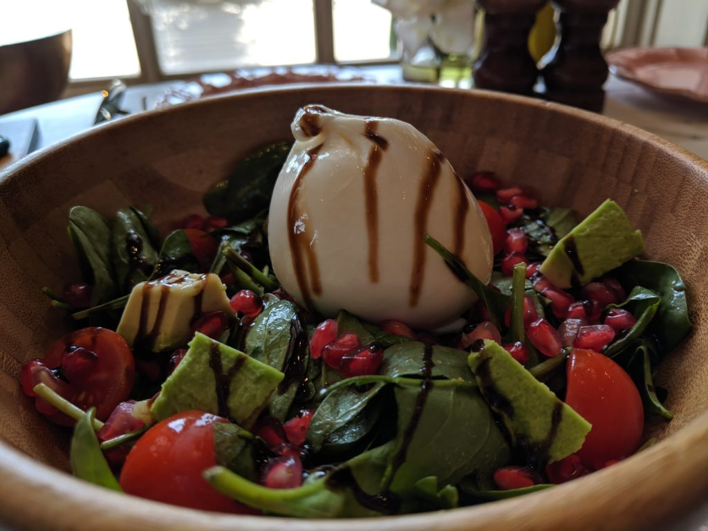 Burrata salad, Sugar & Spice, Doha, Qatar