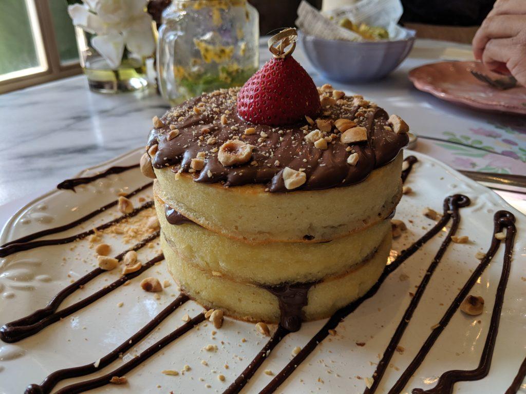 Nutella Pancakes, Sugar & Spice, Doha, Qatar