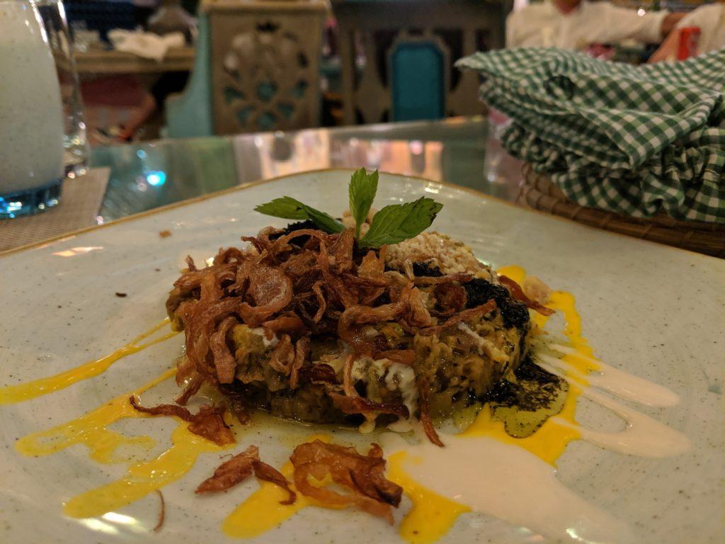 Fried eggplant appetizer, Parisa Souq Waqif, Doha, Qatar