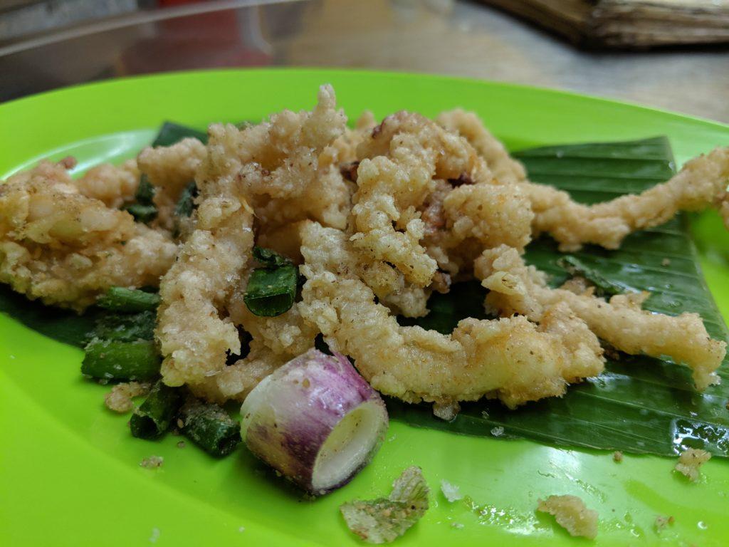 Calamari, Restoran Meng Kee Grill Fish, Jalan Alor, Kuala Lumpur, Malaysia