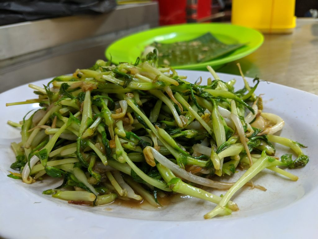 Pea sprouts, Restoran Meng Kee Grill Fish, Jalan Alor, Kuala Lumpur, Malaysia