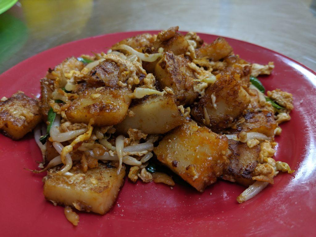 Fried turnip cake, Restoran Meng Kee Grill Fish, Jalan Alor, Kuala Lumpur, Malaysia