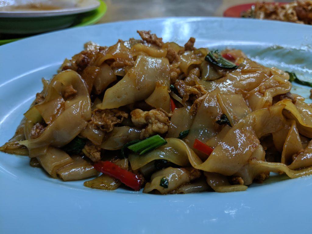 Chow fun, Restoran Meng Kee Grill Fish, Jalan Alor, Kuala Lumpur, Malaysia