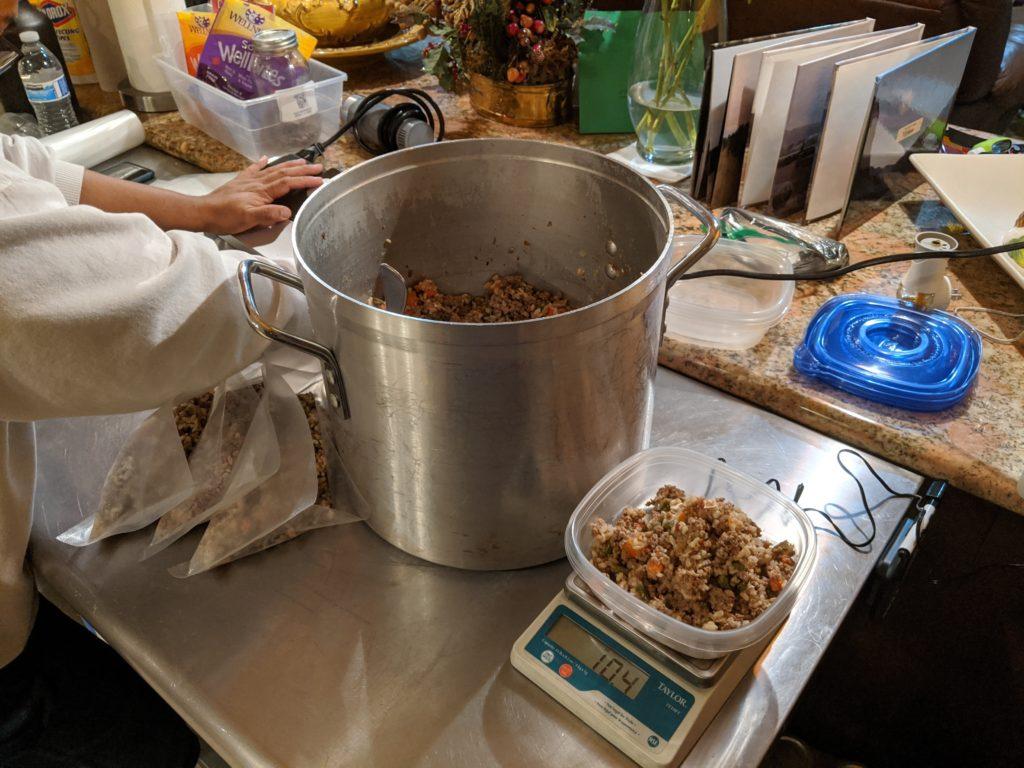 Carl cooking Kacang's food in California, USA