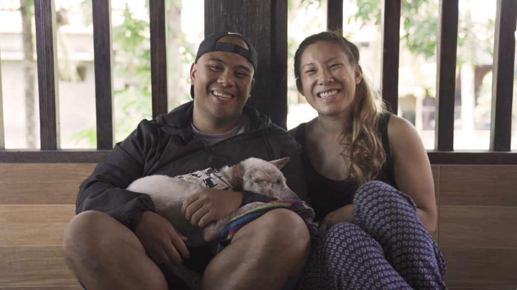 Adrienne and Carl with Kacang in Bali