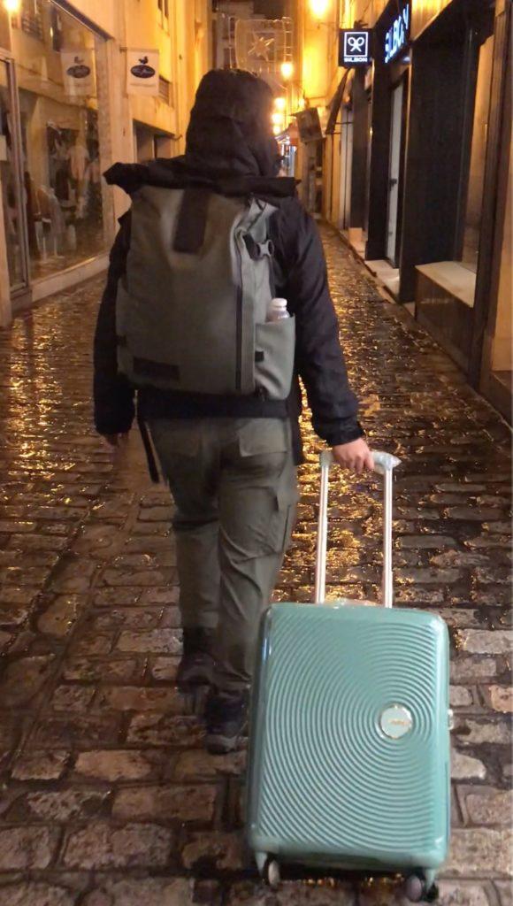 Backpack & luggage combo