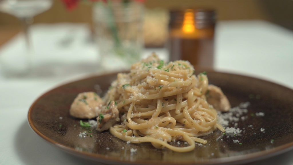 Photo of Seared Chicken Linguine with a Creamy White Wine Sauce