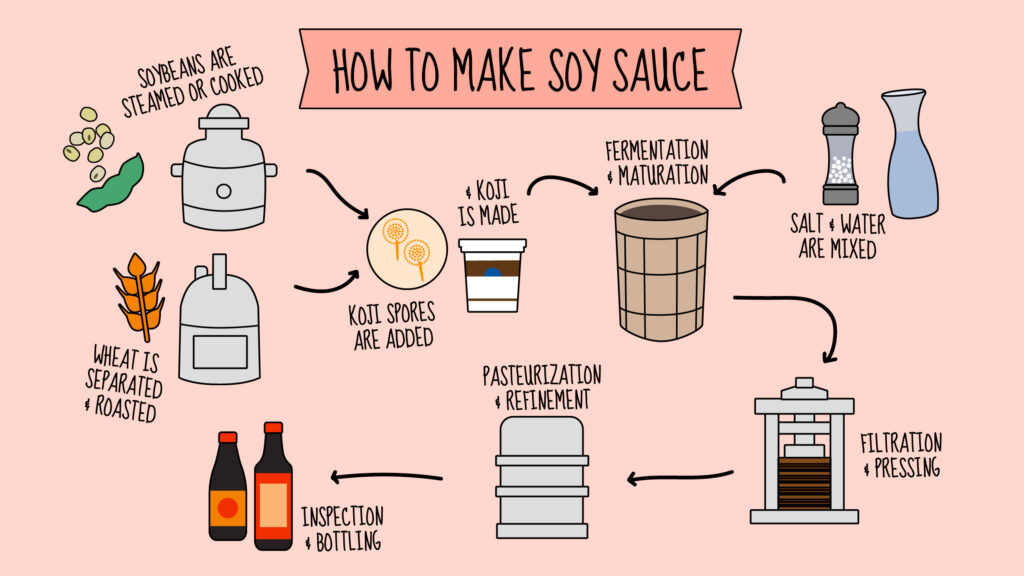 How to Make Soy Sauce infographic
